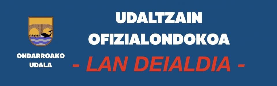 LAN  DEIALDIA  UDALTZAIN